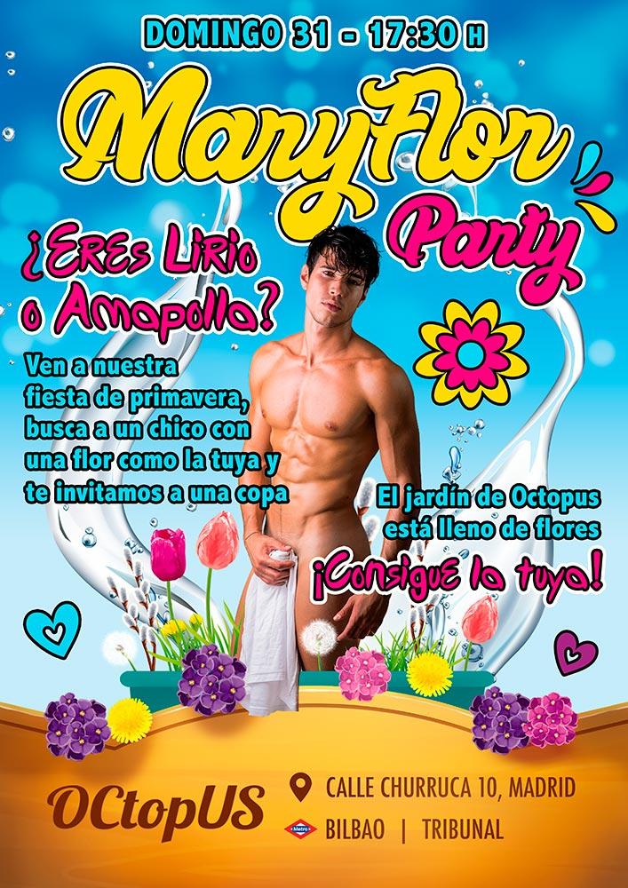 sauna octopus celebra fiestas como la mary flor party que es recomendada por numerosos osos gays